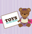 Toys design over purple background vector image