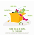 Food donation box concept  Most vector image