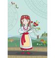 ukrainian girl vector image vector image