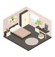 3d Isometric Bedroom Interior vector image