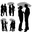 couple under umbrella vector image