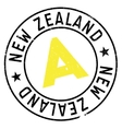 New Zealand stamp vector image