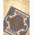 carpet ornamental design on grunge background vector image
