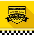 Taxi badge with shadow - 04 vector image