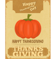 thanksgiving poster vector image
