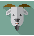 Modern Flat Design Goat Icon vector image