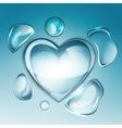water drop heart next vector image