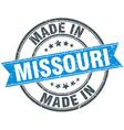 made in Missouri blue round vintage stamp vector image