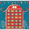 a Christmas calendar vector image