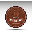 a design of beer mat vector image