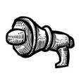 cartoon image of megaphone icon speaker symbol vector image