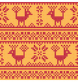 Cross stitch flower and deer vector image
