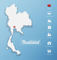 Kingdom of Thailand map vector image