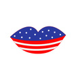 Lips flag Happy Independence day vector image