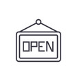 openwelcome sign line icon sign vector image