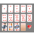 playing cards heart suit vector image