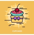 Sweets Cupcakes Poster vector image