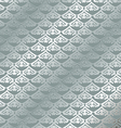 vintage floral pattern seamless background Silver vector image