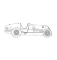 vintage race car vector image