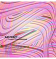 Wavy pattern with abstract feather vector image