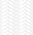 White 3D horizontally striped chevron vector image