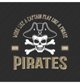 Logo Of Pirates Print vector image vector image