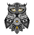tattoo art owl vector image vector image