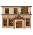 brick house with balcony on second floor vector image