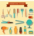 Hairdressing stickers vector image