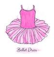 pink ballerina tutu dress performance ballet vector image
