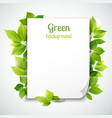 Green leaves frame template vector image vector image