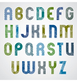 Grunge colorful rubbed upper case letters vector image