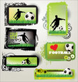 soccer retro grunge banners vector image vector image
