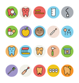 Dental Icons 4 vector image