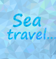Abstract background sea travel vector image