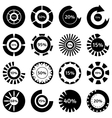 Black download status icons set simple style vector image