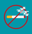 flat colored with prohibition of smoking nicotine vector image