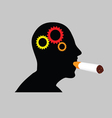 man with cigar vector image