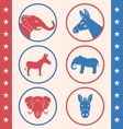 Vintage Style of Button for Vote or Voting vector image