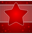 Christmas background with star of lace vector image vector image