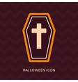 Halloween Coffin silhouette icon vector image