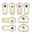 Set of labels with cupcakes vector image