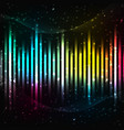 colorful equalizer background vector image