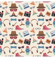 Hipster seamless pattern vector image vector image