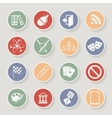 Universal Round Icons For Web and Mobile vector image