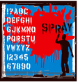 spray font vector image