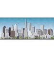 Dubai 3d City skyline vector image