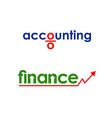 Business finance accounting logo vector image