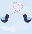 birds song love vector image vector image