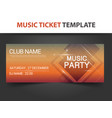abstract square shape music ticket template vector image